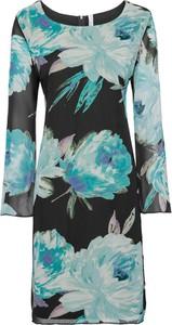 Sukienka bonprix BODYFLIRT boutique midi z szyfonu z okrągłym dekoltem