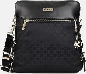 bd6af57b2b1e7 Czarna torebka Kazar z tkaniny w stylu glamour