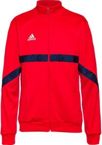 Czerwona kurtka Adidas w sportowym stylu krótka