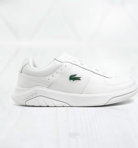 Buty sportowe Lacoste z płaską podeszwą ze skóry sznurowane