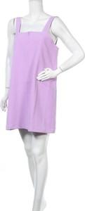 Fioletowa sukienka Resume na ramiączkach z okrągłym dekoltem