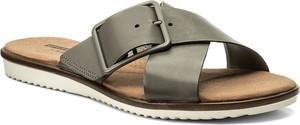 Klapki clarks - kele heather 261335794 sage leather