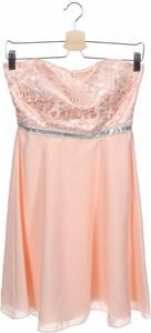 Różowa sukienka SUDDENLY Princess z okrągłym dekoltem mini rozkloszowana
