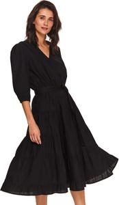 Sukienka Top Secret z długim rękawem z tkaniny mini