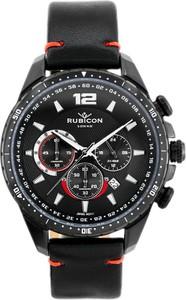 ZEGAREK MĘSKI RUBICON RNCD98 - CHRONOGRAF (zr095a) black - Czarny