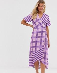 Fioletowa sukienka Miss Selfridge z dekoltem w kształcie litery v