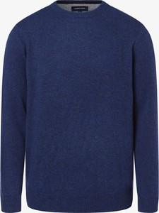 Niebieski sweter Andrew James z wełny w stylu casual