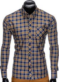 Koszula Ombre Clothing z długim rękawem z bawełny