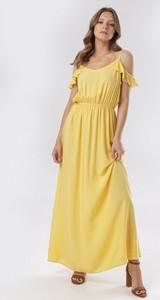 Sukienka born2be hiszpanka w stylu casual z krótkim rękawem