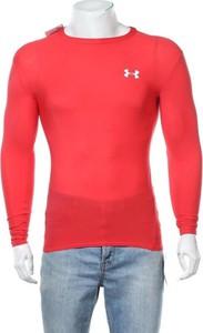 Czerwony t-shirt Under Armour z długim rękawem w sportowym stylu