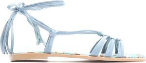 Niebieskie sandały Multu z płaską podeszwą