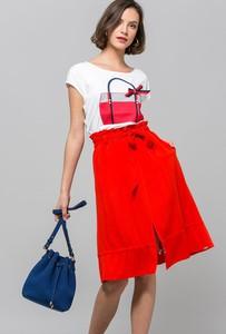 Czerwona spódnica Monnari