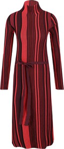 Sukienka Hugo Boss z golfem midi z długim rękawem