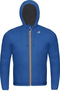 Niebieska kurtka dziecięca K-Way z dżerseju dla chłopców