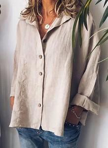 Bluzka Cikelly z dekoltem w kształcie litery v z długim rękawem