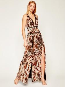 Sukienka Guess by Marciano z dekoltem w kształcie litery v maxi
