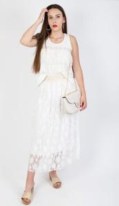 Bluzka Olika z okrągłym dekoltem w stylu glamour