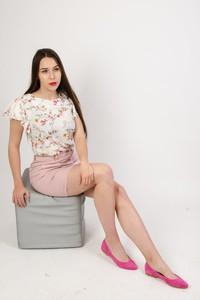 Różowa spódnica Olika mini