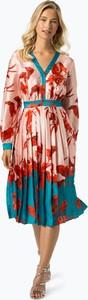 Sukienka Ted Baker midi z dekoltem w kształcie litery v z długim rękawem