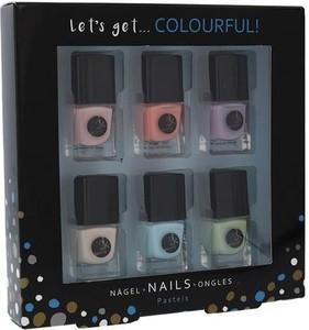 2K Let´s Get Colourful! Pastels Lakier do paznokci W 5 ml Lakier do paznokci 6 x 5 ml
