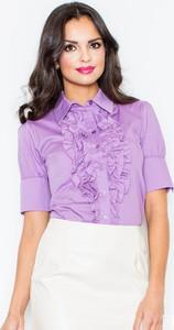 Fioletowa koszula Figl z bawełny
