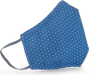 Ekskluzywna maseczka ochronna bawełniana 3-warstwowa - wielorazowa - Qart - błękitne