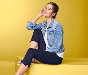 f9dc95678109b8 Spodnie damskie z bawełny Tchibo, kolekcja lato 2019