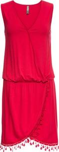 Sukienka bonprix RAINBOW z dekoltem w kształcie litery v bez rękawów asymetryczna