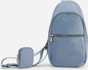 Niebieska torebka Reserved ze skóry na ramię