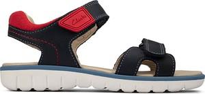 Buty dziecięce letnie Clarks na rzepy dla chłopców