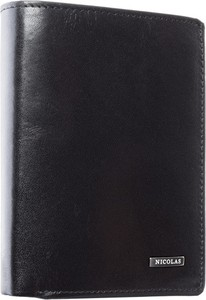 Czarny portfel męski Nicolas na bilon