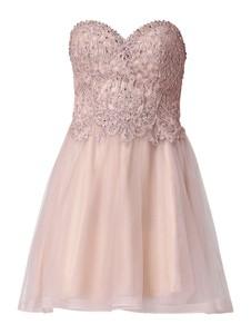 Różowa sukienka Laona gorsetowa bez rękawów