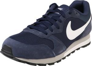 Granatowe buty sportowe nike sportswear z zamszu sznurowane