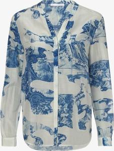 Niebieska koszula Hugo Boss w stylu casual z jedwabiu