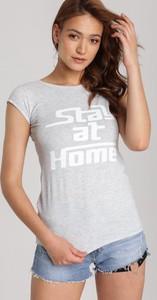 T-shirt Renee z krótkim rękawem z okrągłym dekoltem w stylu casual