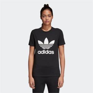Czarny t-shirt Adidas z dzianiny