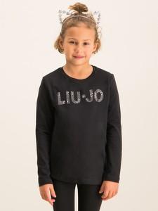 Czarna bluzka dziecięca Liu-Jo