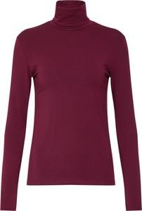 Czerwona bluzka Samsøe & Samsøe z bawełny z długim rękawem w stylu casual
