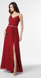 Sukienka Luxuar Fashion z dekoltem w kształcie litery v z szyfonu na ramiączkach