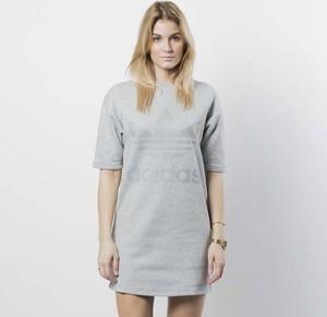 Sukienka Adidas Originals z długim rękawem z okrągłym dekoltem