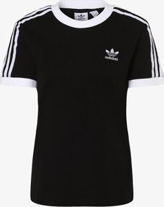 tshirt damski adidas szaryz czarnym znaczkiem