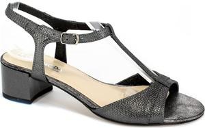 Czarne sandały Lucyna