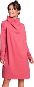 Różowa sukienka BeWear mini w stylu casual