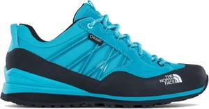 Niebieskie buty sportowe The North Face z goretexu z płaską podeszwą