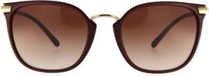 Czerwone okulary damskie Burberry