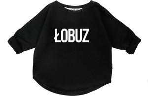 Czarna bluza dziecięca ilovemilk.pl z bawełny