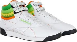 Buty sportowe Reebok na rzepy w sportowym stylu ze skóry