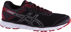 Czarne buty sportowe ASICS z płaską podeszwą