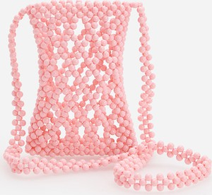 Reserved - Torebka z koralików - Różowy