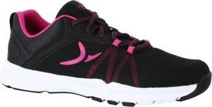 Czarne buty sportowe domyos w sportowym stylu z płaską podeszwą sznurowane